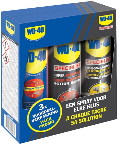 WD 40 Multi Use / Kruipolie / Siliconenspray 3 in 1 set 250 ml