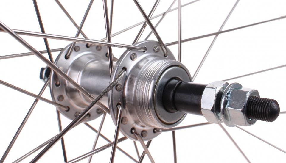 Weinmann achterwiel 28 inch X Plorer vaste as velgrem 32S zilver
