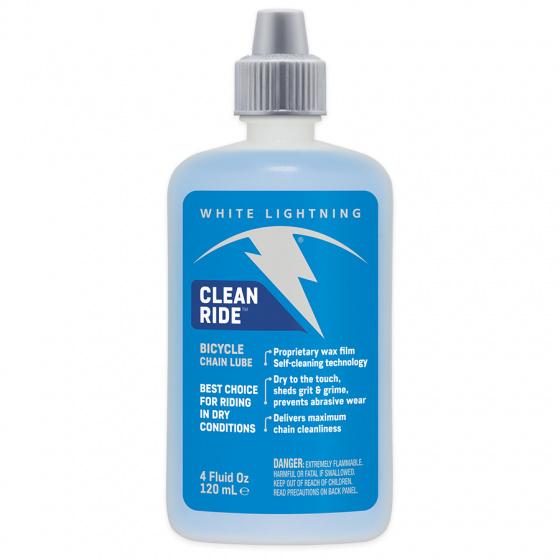 White Lightning smeermiddel Clean Ride 120 ml wax blauw/wit