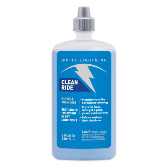 White Lightning smeermiddel Clean Ride 240 ml wax blauw/wit