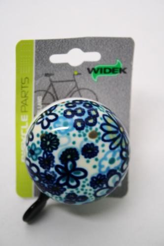 Widek Bel Ding Dong Floral 60mm Blauw
