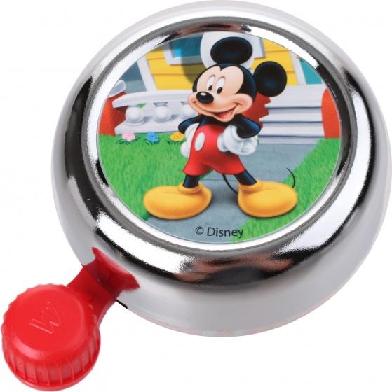 Widek fietsbel Disney Mickey Mouse 55 mm chroom/rood