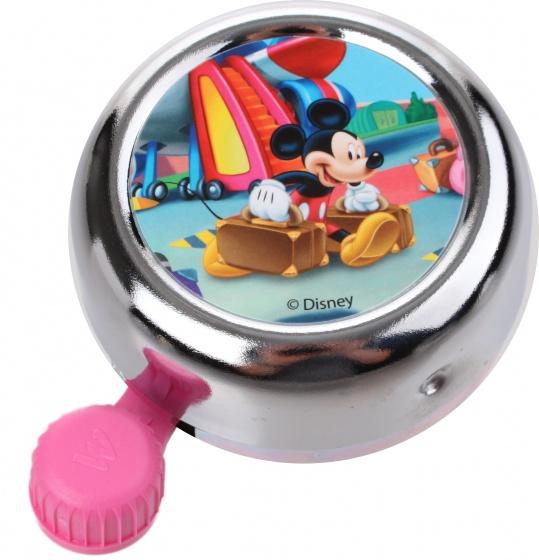 Widek fietsbel Disney Mickey Mouse 55 mm chroom/roze