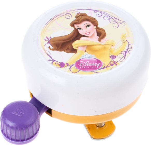 Widek fietsbel Disney Princess 55 mm wit/geel