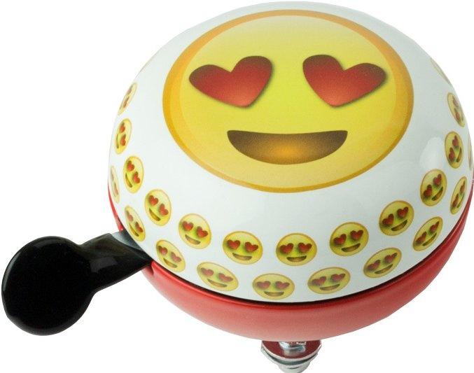 Widek fietsbel Emoticon 80 mm wit/rood/geel