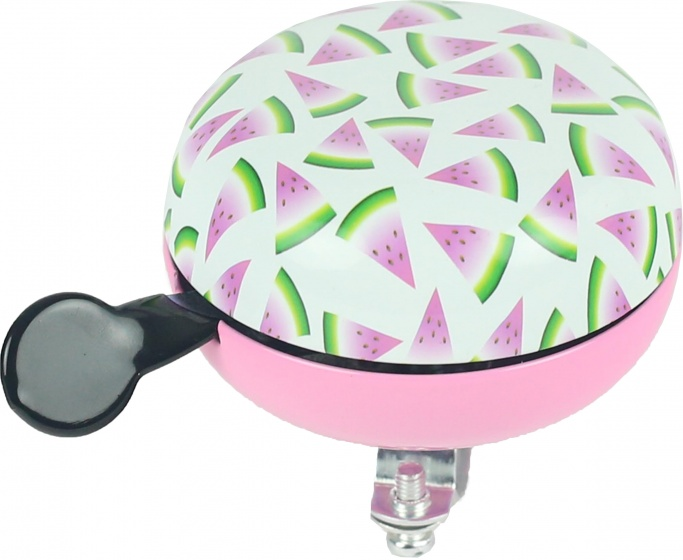 Widek fietsbel Meloen 80 mm wit/roze