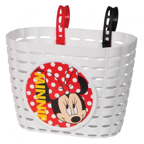 Widek Kinderfietsmandje Minnie Mouse Wit