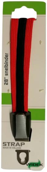 Widek snelbinders City 28 inch RVS/elastaan rood/zwart