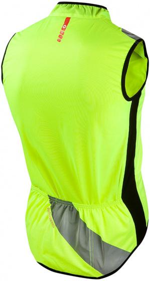 Wowow fietsjack Raceviz Paterberg textiel/PU geel maat M