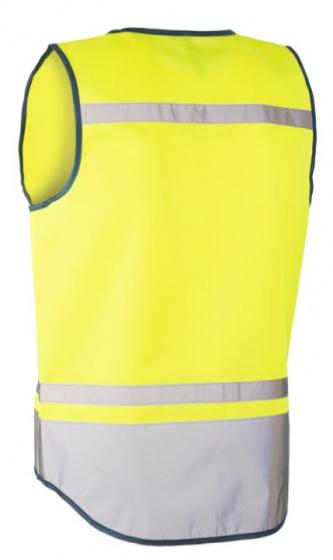 Wowow veiligheidshesje Amsterdam polyester geel maat L
