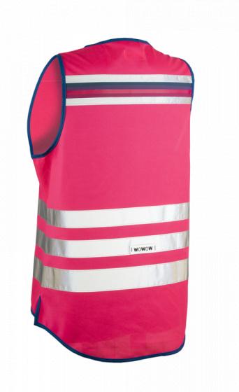 Wowow veiligheidshesje Lucy dames polyester roze maat L