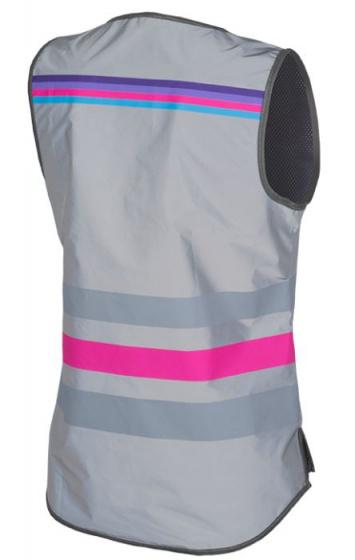 Wowow veiligheidshesje Lucy FR polyester/mesh grijs/roze maat S