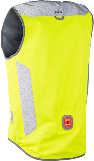 Wowow veiligheidsvest Tegra katoen/PU geel maat XL