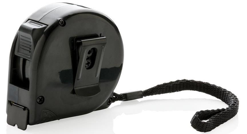 XD Collection rolmaat 5 meter 6,4 cm ABS/RVS zwart/grijs