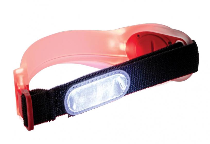 XD Collection veiligheidsarmband led 22,2 x 5,4 cm TPU rood