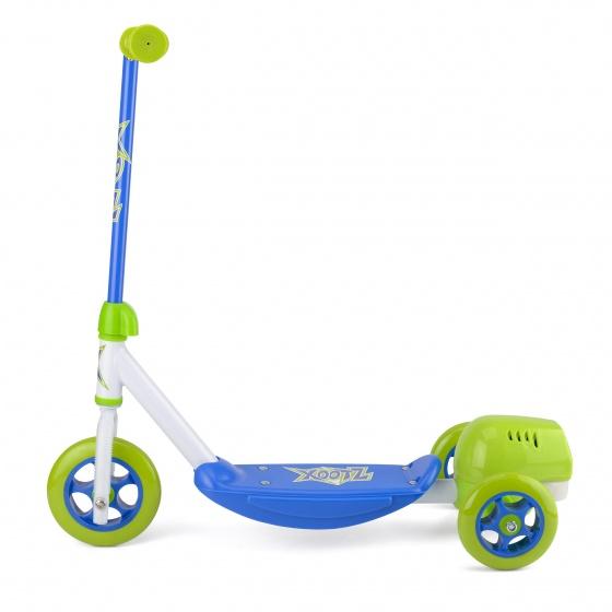 Xootz 3 wiel kinderstep Bubble Scooter Jongens Voetrem Groen/Blauw