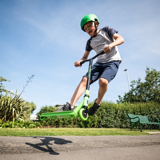 Xootz stuntstep Junior Voetrem Groen