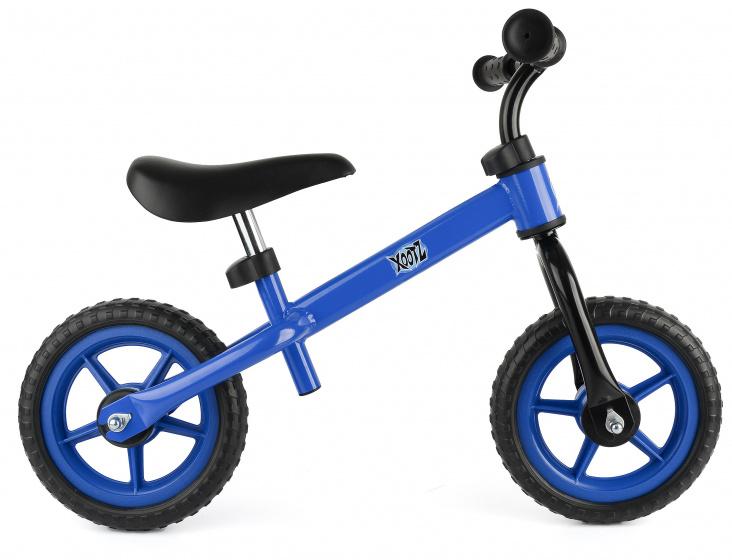 Xootz loopfiets Balance jongens 10 inch staal blauw