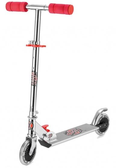 Xootz step led wielen Junior Voetrem Zilver