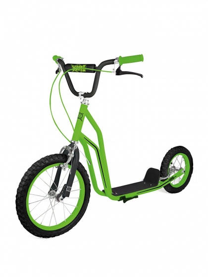 Xootz BMX Scooter 16 Inch Junior Knijprem Groen/Zwart