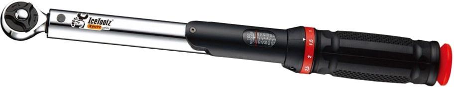Xpert momentsleutel 2 weg 20 100nm 3/8 en 1/2 zwart/rood