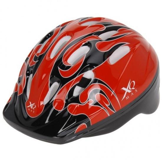 XQ Max fietshelm jongens rood maat M (56 58 cm)
