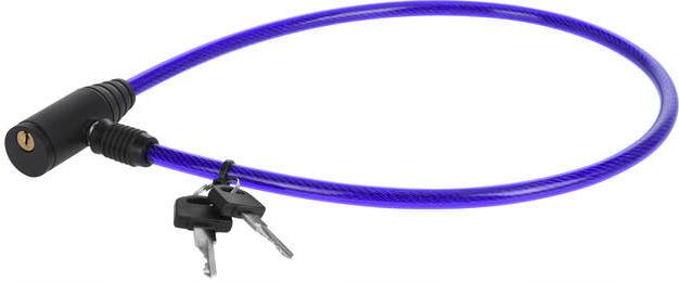 XQ Max kabelslot 65 cm staal blauw/zwart 3 delig