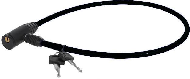 XQ Max kabelslot 65 cm staal zwart 3 delig