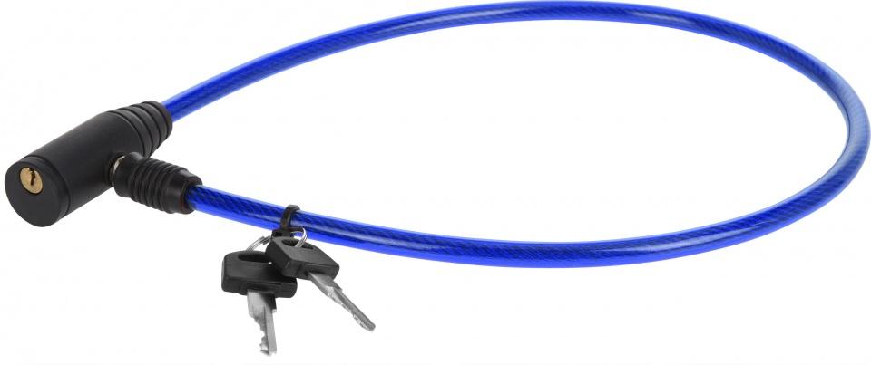 XQ Max kabelslot met sleutels 65 cm blauw