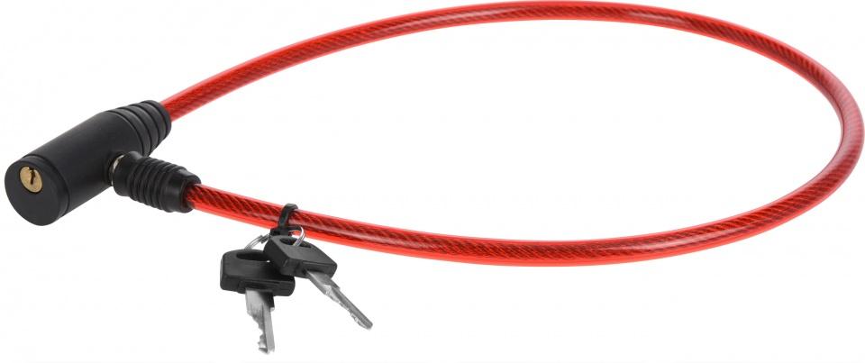XQ Max kabelslot met sleutels 65 cm rood