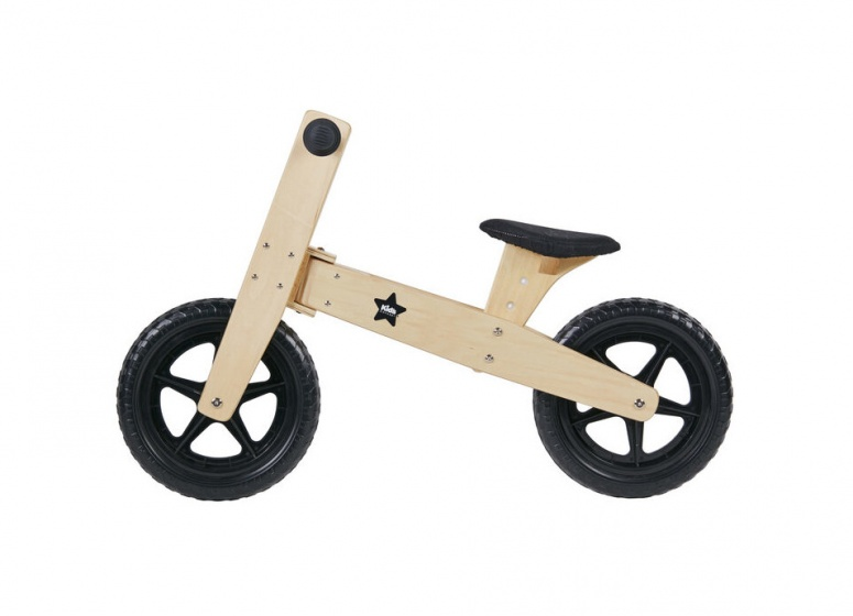 Kid's Concept houten loopfiets Neo Junior Blank/Zwart