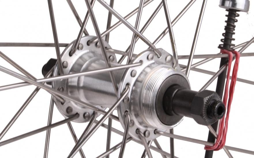 Zac 2000 Achterwiel 28 x 5/8 aluminium 36G zilver
