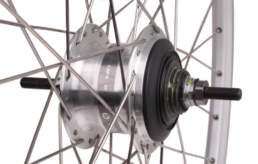 Zac 2000 Achterwiel 28x15/8x13/8 rollerbrake aluminium zilver