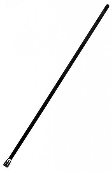 Zenitech herbruikbare kabelbinders 7,6 x 370 mm zwart 10 stuks