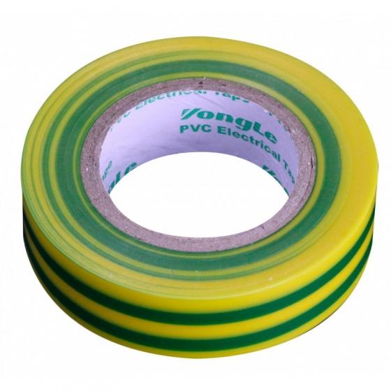 Zenitech isolatietape 15 mm x 10 m geel/groen