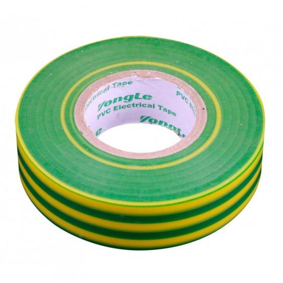 Zenitech isolatietape 19 mm x 20 m groen/geel