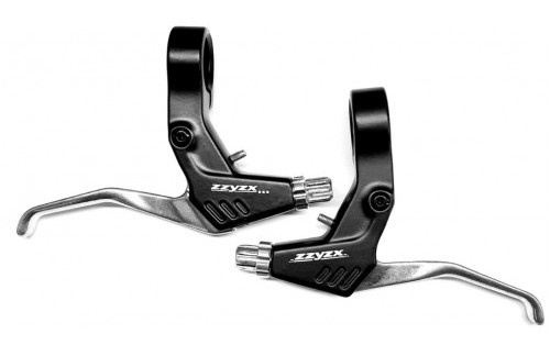 Zzyzx remgrepen aluminium 2 vinger zwart/zilver