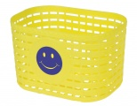 M-Wave fietsmand smiley junior 3,5 liter geel