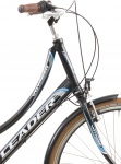 Leader City Voyager 28 Inch Dames 7V V-Brake Matzwart