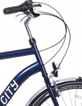 Popal City 6 Speed 28 Inch Heren 6V V-Brake Blauw