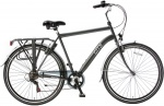 Popal City 6 Speed 28 Inch Heren 6V V-Brake Grijs