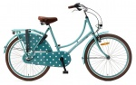 Popal Omafiets 24 Inch Girls 3SP Coaster Brake Turquoise