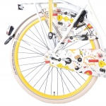 Salutoni Cartoon 28 Inch Woman 3SP Coaster Brake White