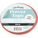 Creotime dubbelzijdig klevend power tape 10 m x 3 mm rood