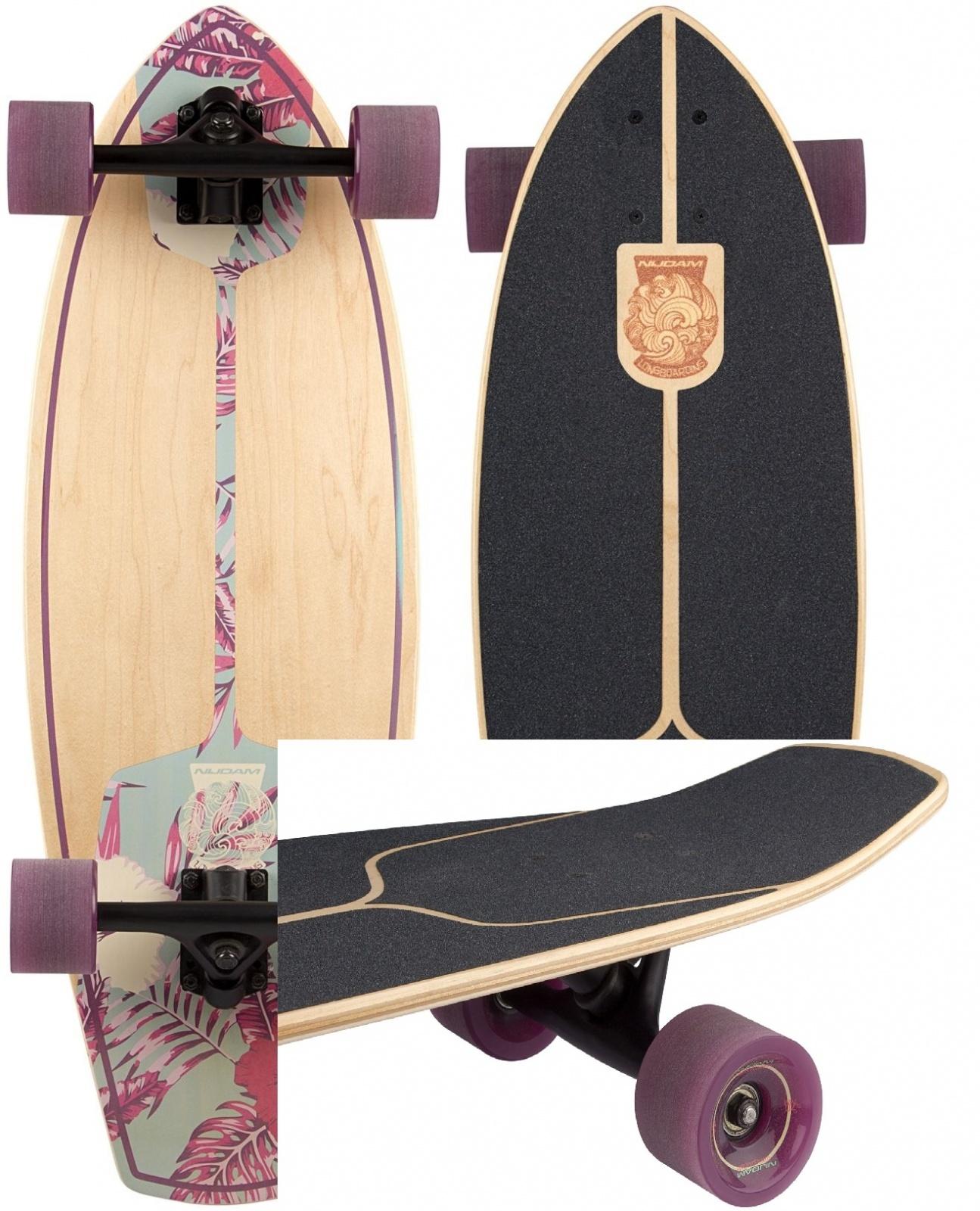 Kicktail longboard